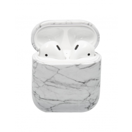 Airpod Cover Marmer Wit