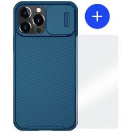 iPhone 13 Mini Hoesje Blauw met Camera bescherming - Nillkin (CamShield Serie)